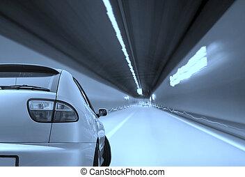 汽車, 上, the, road.