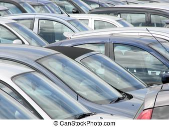 汽車, 公園, 擁擠