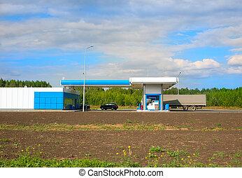 汽車, 加油站