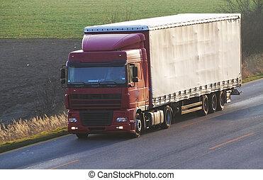 汽車, 卡車, 高速公路