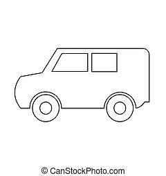汽車, 圖象, 矢量, 插圖