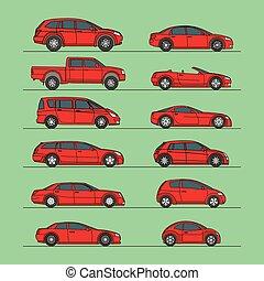 汽車, 圖象, 集合, 矢量