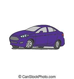 汽車, 心不在焉地亂寫亂畫, 手, 畫