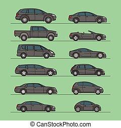 汽車, 矢量, 集合, 圖象