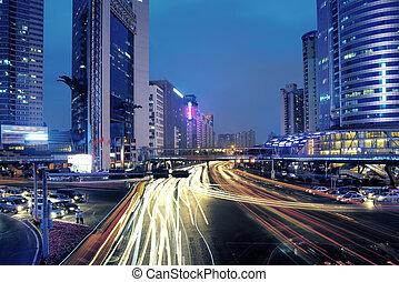 汽車, 移動, 城市