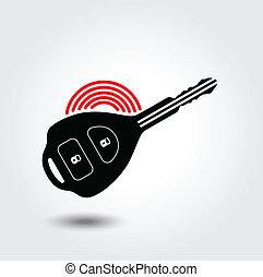 汽車, 符號, 遙遠, 鑰匙