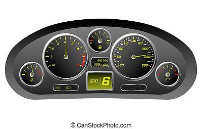 汽車, 運動, 儀表板