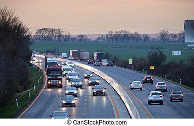 汽車, 運輸, 高速公路