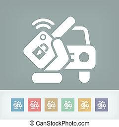 汽車, 遙遠, 鑰匙