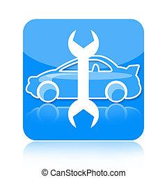 汽车修理, 图标