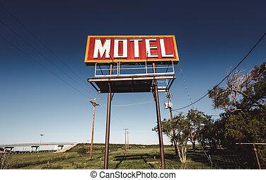 汽车旅馆, 老, 路线66, 签署