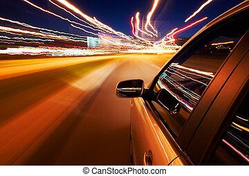 汽车, 迅速地开车