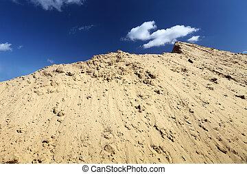 沙丘, 以及藍色, 天空