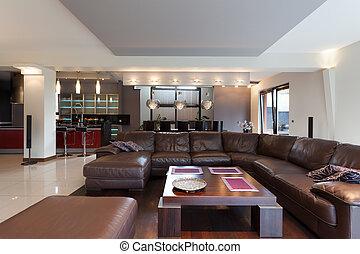 沙发, 在中, 客厅