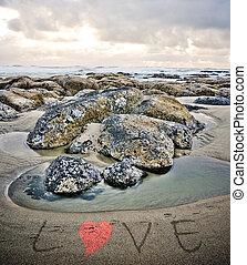 沙子, 愛