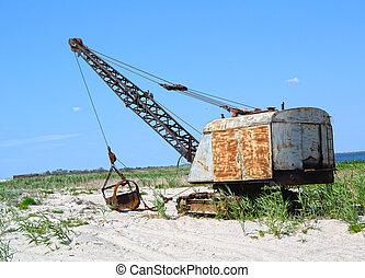 沙子, 背景, 挖掘機