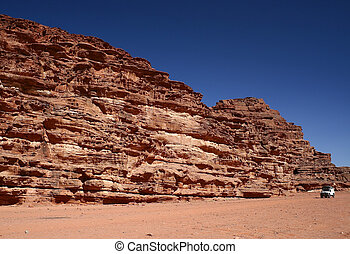 沙漠, 約旦, 干涸河道, 甘蔗酒, 旅行隊