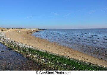 沙质的海滩, essex, 英国
