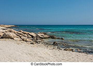 沙, 塞浦路斯, 岩石, 海海岸