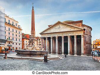 没人, -, 万神殿, rome