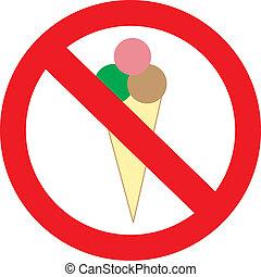 没有, 冰淇淋, 进入, 签署