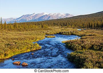 河, 上, 阿拉斯加