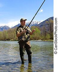 河, 漁夫