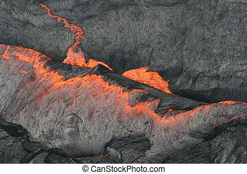 沸騰, ハワイ, 溶岩
