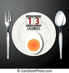 沸騰, 卵, カロリー