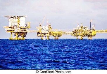 油井掘削機, 沖合いに
