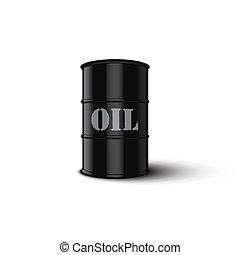 油桶, 被隔离, 在懷特上, 背景。, 矢量, illustration.