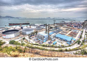 油油罐, 工业, 发生地点, hdr, image.