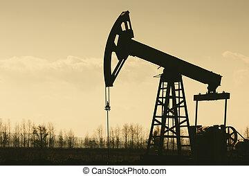 油泵, silhoutte