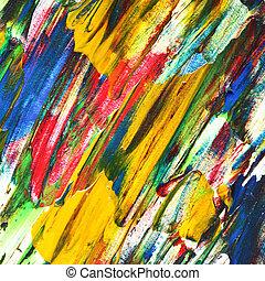 油絵, 色とりどりである, 手ざわり