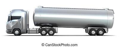 油船, truck., 被隔离, 3d, 圖像