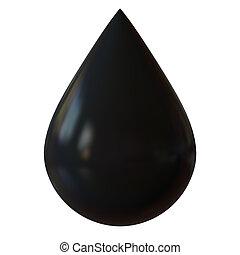 油, 小滴, 被隔离, 在懷特上