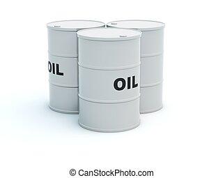 油, 桶, 被隔离, 在懷特上