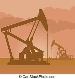 油, 生產, 泵