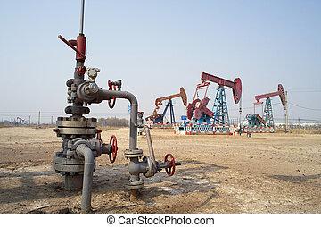 油, 門閂, 以及, 泵千斤頂