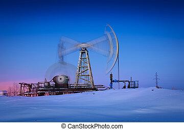 油, pump.