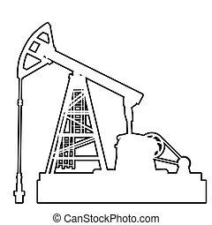 油, pumpjack., 石油工業, equipment.