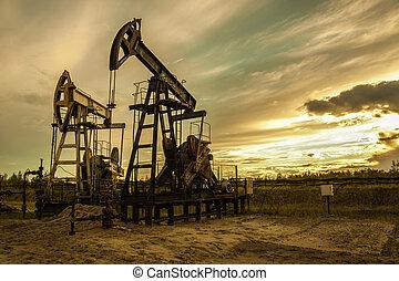 油, pumps.