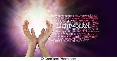 ∥, 治療 手, の, a, lightworker