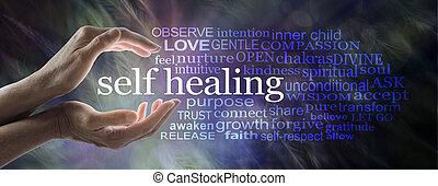 治癒, 単語, 助け, 自己, 雲