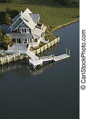 沿岸である, 家, ∥で∥, dock.