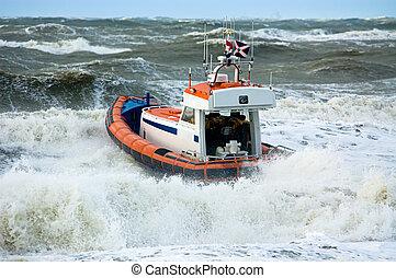 沿岸警備隊, の間, 嵐