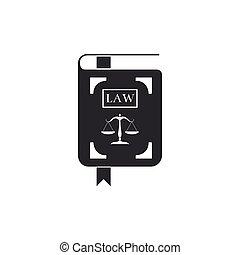 法令, アイコン, 平ら, 正義, スケール, イラスト, isolated., ベクトル, 法律書, design.