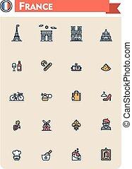 法國, 旅行, 集合, 圖象