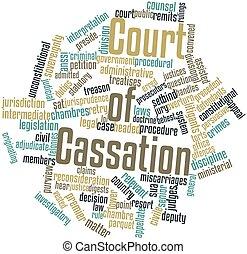 法廷, の, cassation