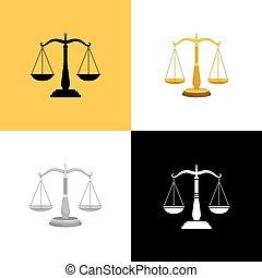 法廷, スケール, セット
